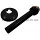 Декоративная трубка с розеткой, черная